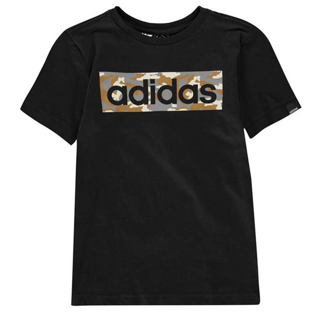 adidas Camo Linea T Shirt Junior