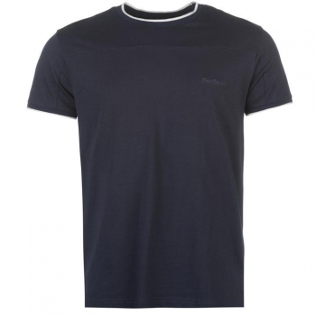 Pierre Cardin Panelled TShirt with Tipping Mens 2XL