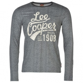 Lee Cooper Textured Long Sleeve T Shirt Mens M
