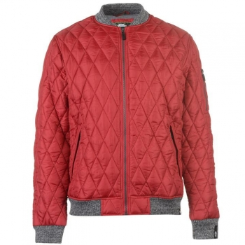 No Fear Quilted Bomber Jacket Mens XXL