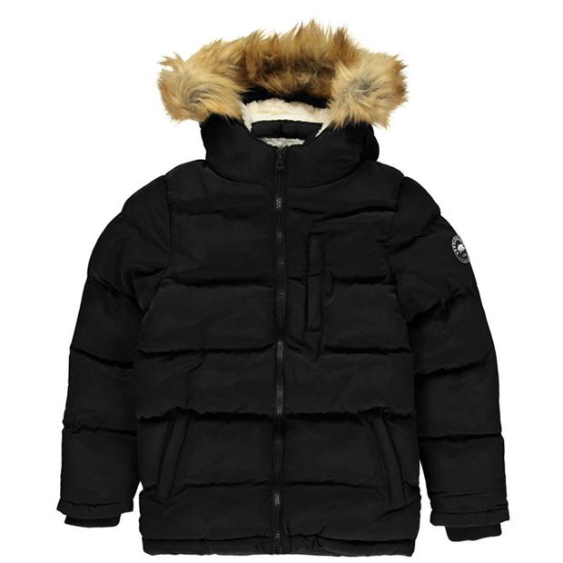 SoulCal 2 Zip Bubble Jacket Junior