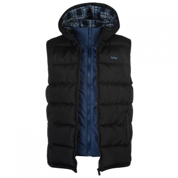 Lee Cooper Two Zip Gilet Mens 4 (XXXXL)
