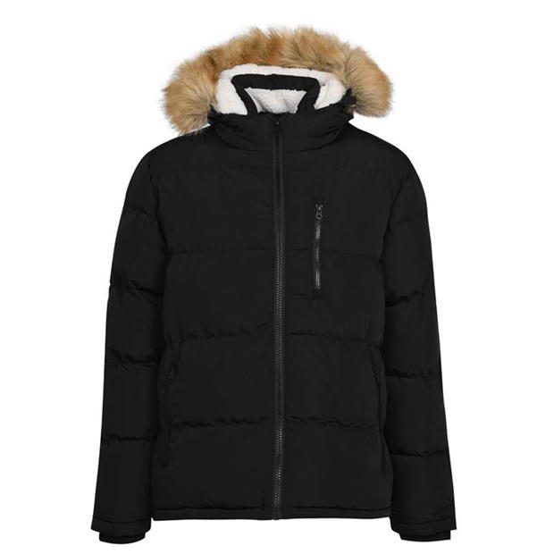 SoulCal 2 Zip Bubble Jacket Mens