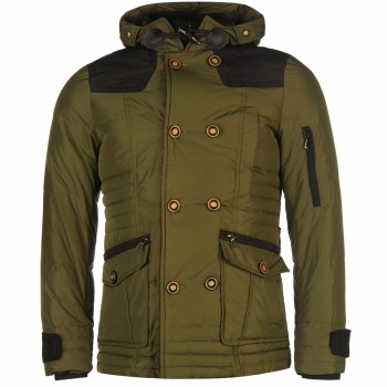 Lee Cooper Cordu Down Jacket Mens (L)