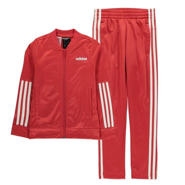 adidas 3 Stripe Tracksuit Junior Girls