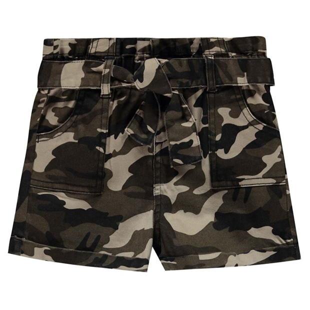 Firetrap Camo Shorts Junior Girls