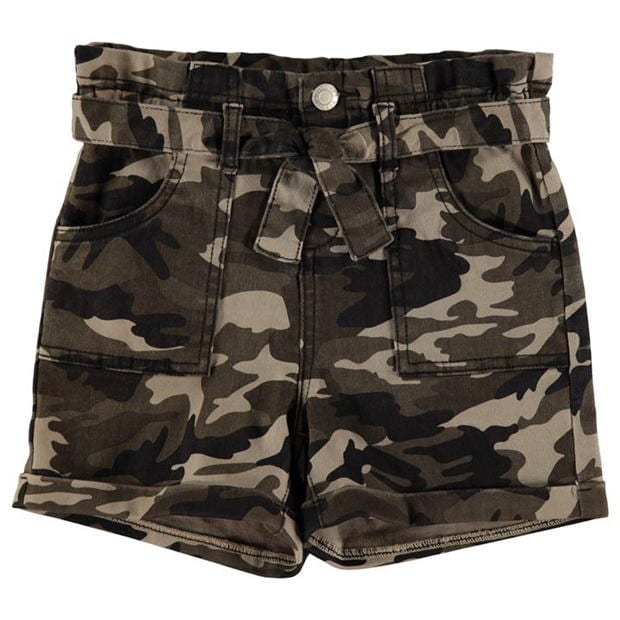 Firetrap Camo Shorts Junior Girls