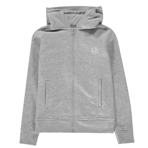 LA Gear Full Zip Hoody Junior Girls