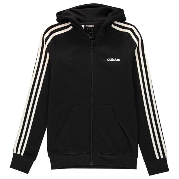 adidas 3 Stripe Zip Hoodie Junior Girls