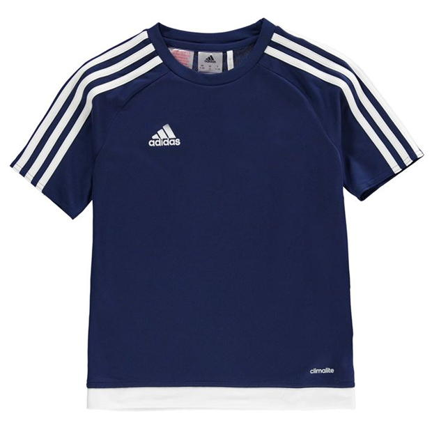 adidas 3 Stripe Estro T Shirt Junior