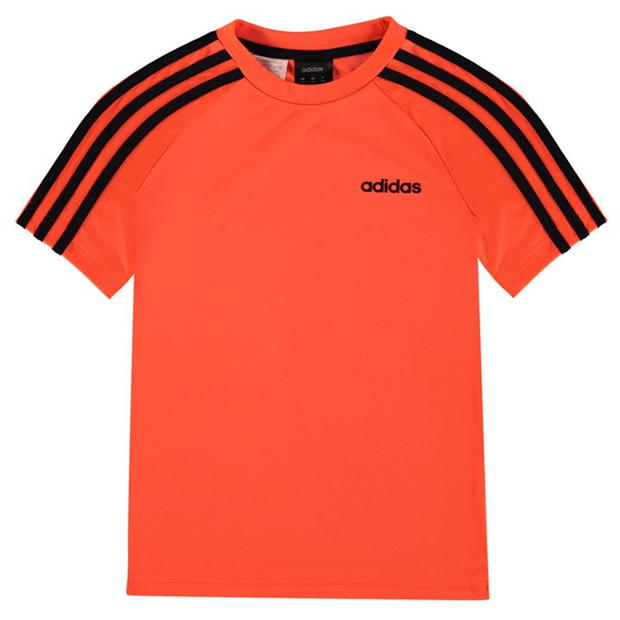 adidas 3 Stripe Estro T Shirt Junior Boys
