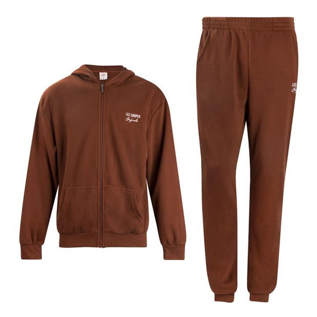 Lee Cooper Rib Jog Suit Mens