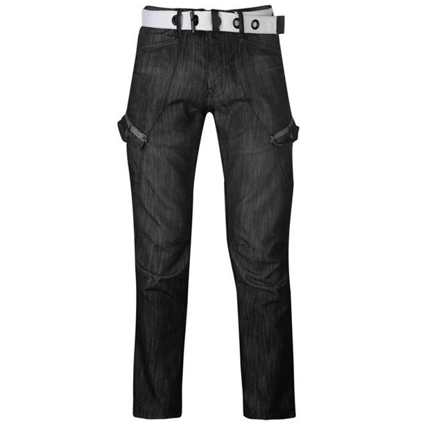 Airwalk Belted Cargo Jeans Mens
