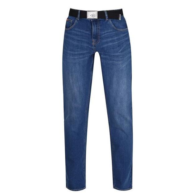 Lee Cooper Belted Jeans Mens