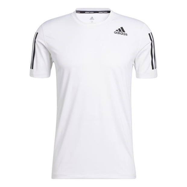 adidas Techfit 3-Stripes Fitted T-Shirt Mens