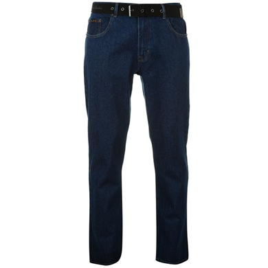 Pierre Cardin Web Belt Mens Jeans