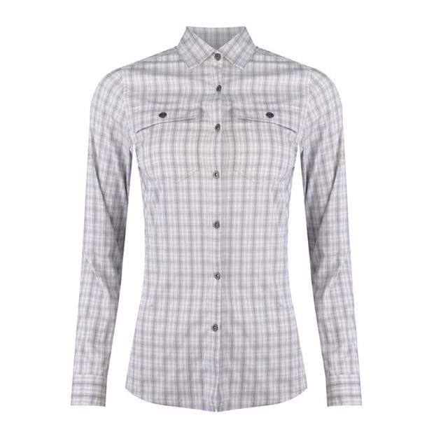 Eastern Mountain Sports Journey Plaid Long Sleeve Shirt Ladies