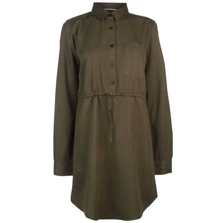 Kangol Long Sleeve Shirt Dress Ladies