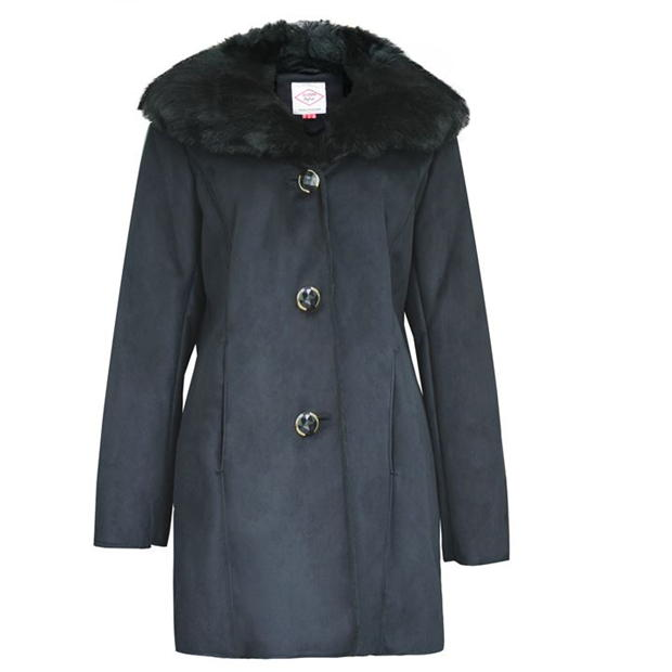Lee Cooper Faux Suede Parka Ladies