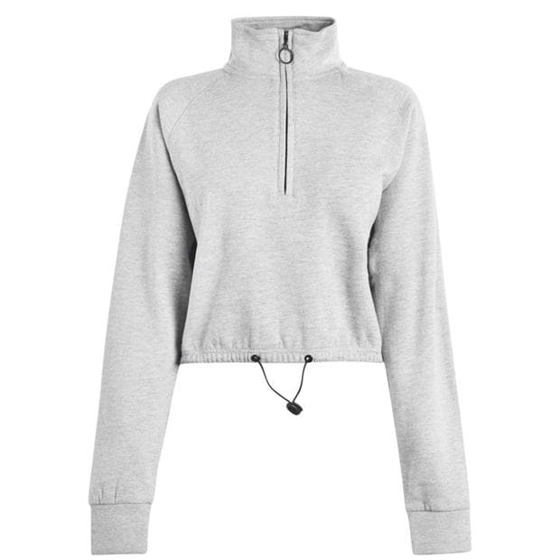 Golddigga Crop  quarter  Zip Sweater Ladies