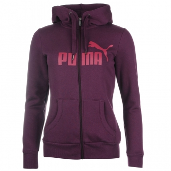 Puma No1 Logo Full Zip Hoody Womens (L)