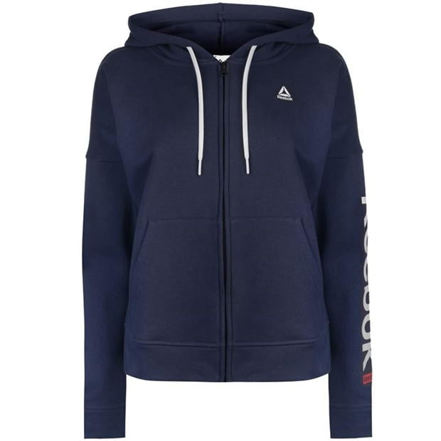 Reebok Linear Full Zip Hoodie Ladies