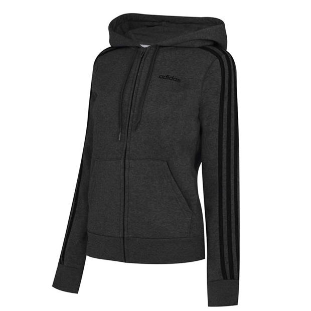 adidas Zip Fleece Track Top Hoodie