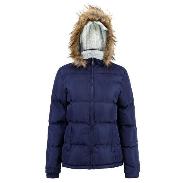 Lee Cooper Faux Fur Hood Jacket Ladies