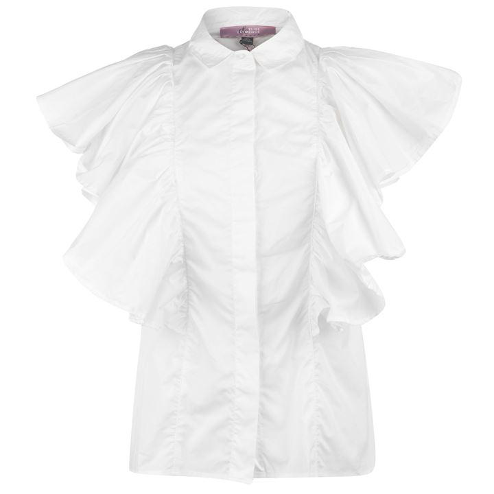 Elise and Clemence Womens Frill Shirt